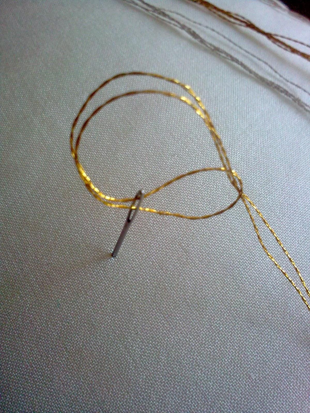 Как вышивать нитками металлик?