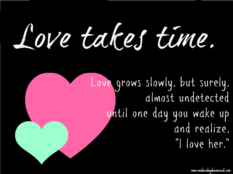 Can love grow