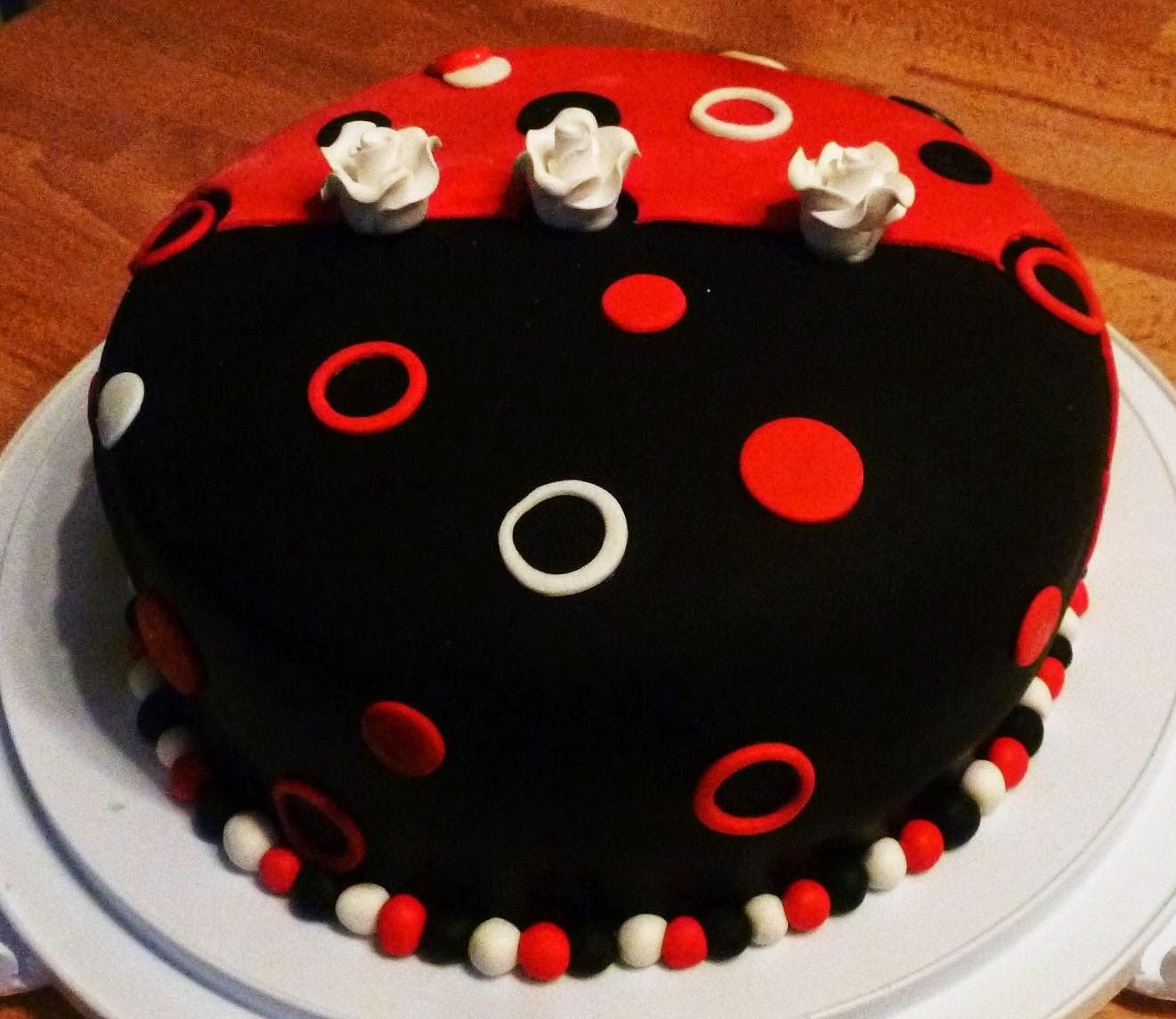 Black and Red Fondant Cake... Beetle inspiration