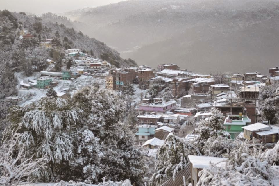 Snofall in far west Nepal