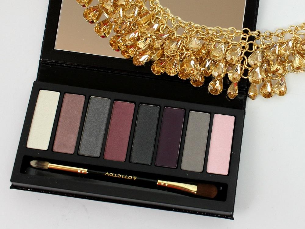 palette, look, make-up, review, glamour, lidschatten, swatches, Little Black Dress, high end, eyeshadow, ARTISTRY, abend make-up, Eyeshadow Palette, beautytesterin, tragebilder