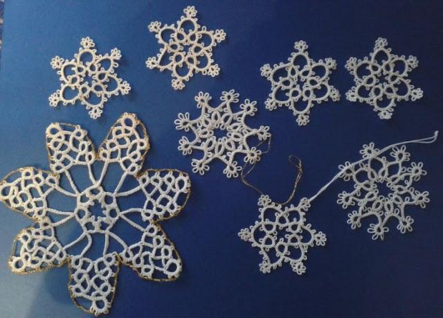 Śnieżynki frywolitkowe DIY