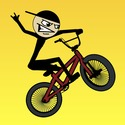 Stickman BMX Icon Logo