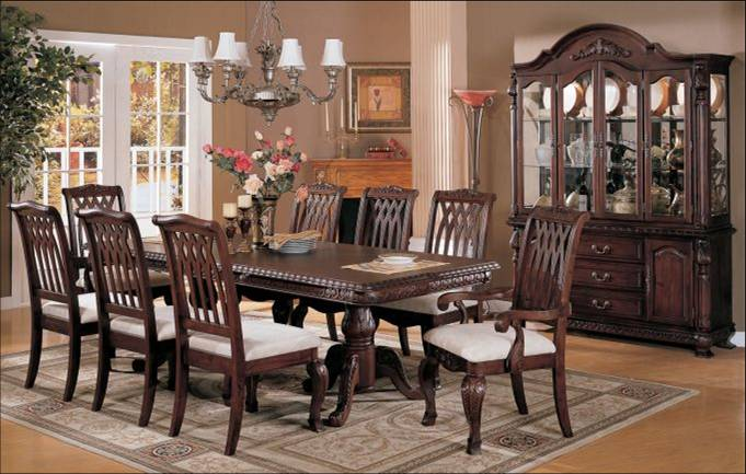 The selection and placement of dining room furniture