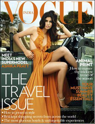  - Ashika Pratt on Vogue India Magazine Cover April 2011 Edition