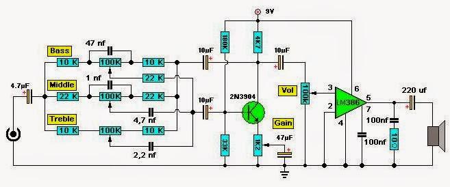 Circuito Amplificador : Toptronica circuito amplificador para bajo
