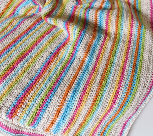 manta de hilo tejida al crochet