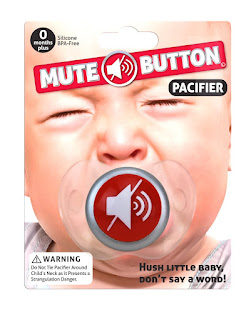 Image: Big Mouth Mute Button Pacifier - Shop USA