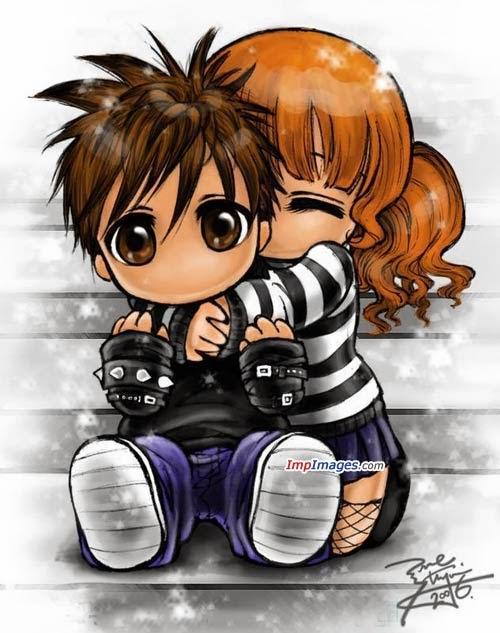 Cool profile pictures!!!: Cartoon Couples (dp).....:D
