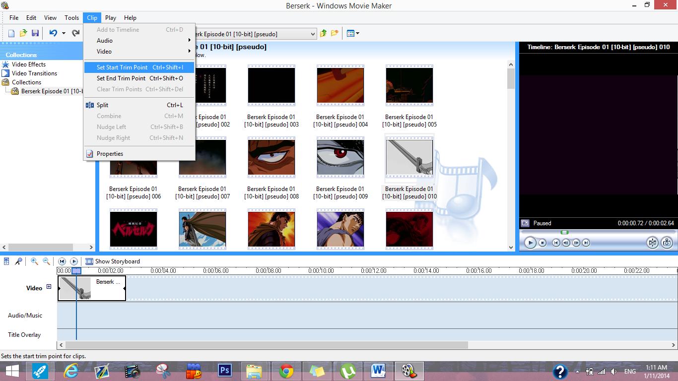 Windows movie maker audio music