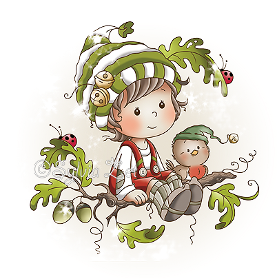 Oak Tree Girl and Boy are now available as digital stamps HERE and as ...