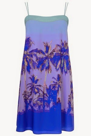 heloise palm tree cami dress