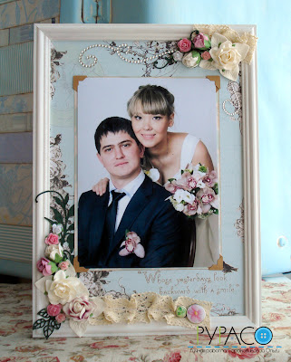 Фоторамка свадебная своими руками