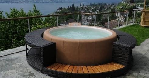 Giardini arredamento vasche idromassaggio per esterno - Arredamento esterno economico ...