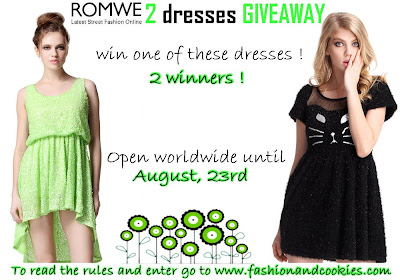 Romwe 2 dresses giveaway - read the rules before entering !
