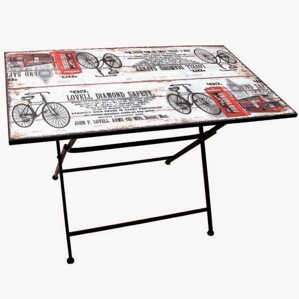 Muebles de forja juego de mesas sillas forja y madera - Mesa plegable con sillas dentro ...