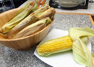 Enjoy juicy, tasty corn on the cob.