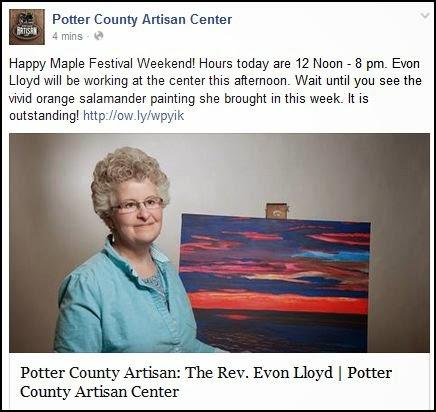 http://pottercountyartisancenter.blogspot.com/2014/03/potter-county-artisan-rev-evon-lloyd.html