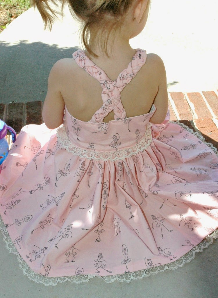 Braided Ballerina Dress for little girls