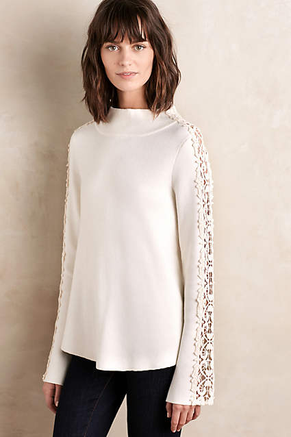 anthropologie laced funnelneck pullover sale on sale knitted and knotted