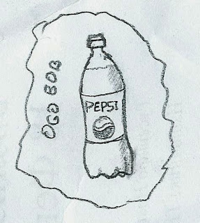 bottle of pepsi