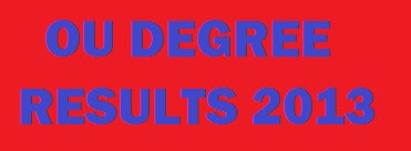 OU Degree Results 2013