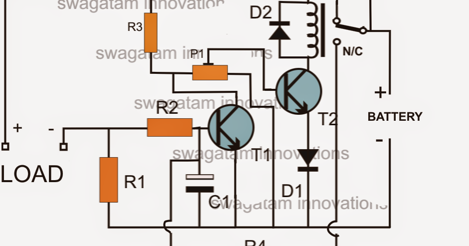 low battery cut off and overload protection circuit