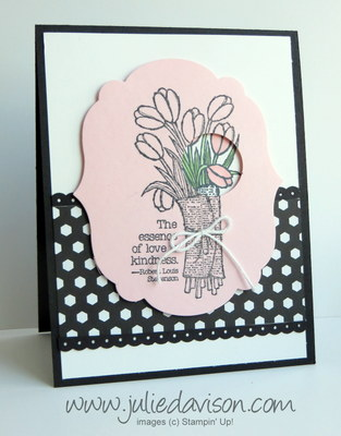 Stampin' Up! Love is Kindness Card + Negative Spotlighting Video Tutorial #stampinup #occasions www.juliedavison.com