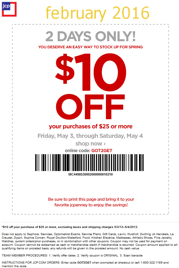 Printable coupons jcpenney coupons for Coupon gratis