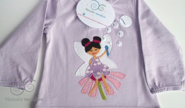 Camiseta Hada de las pompas de jabón lila1