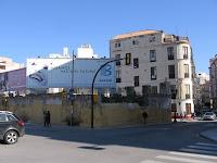 Málaga, solares resultado de demolición de edificios históricos en calle Hoyo de Esparteros y Pasillo de Atocha