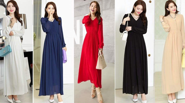 Lined Front Button Maxi