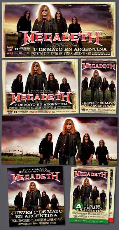 Megadeth 2014 / Pack Prensa Completo