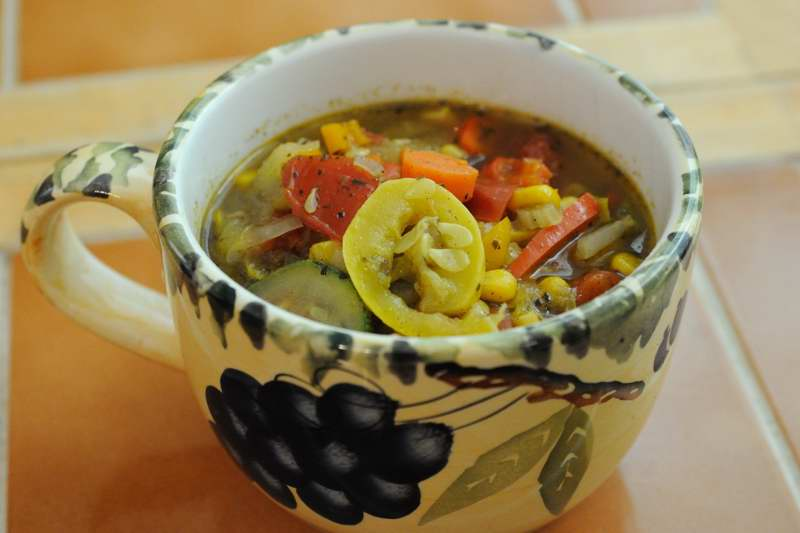 What 39 s for supper garden vegetable soup for Difference between dinner supper