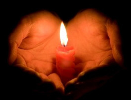 A lit candle for lost loved ones #peaceonearth