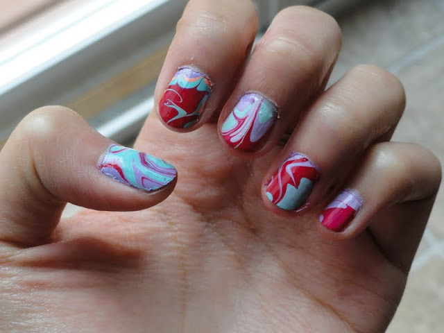 marble nail art tutorial, nail design