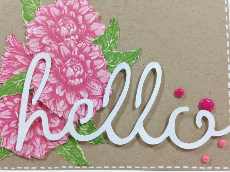 Close To My Heart Artfully Sent Floral Hello card closeup