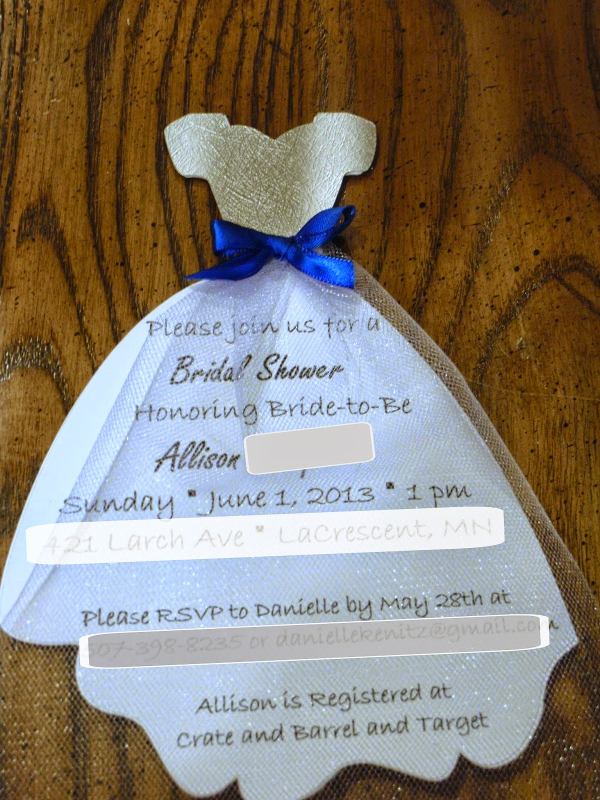 Wedding Invitations with a Bow Dress