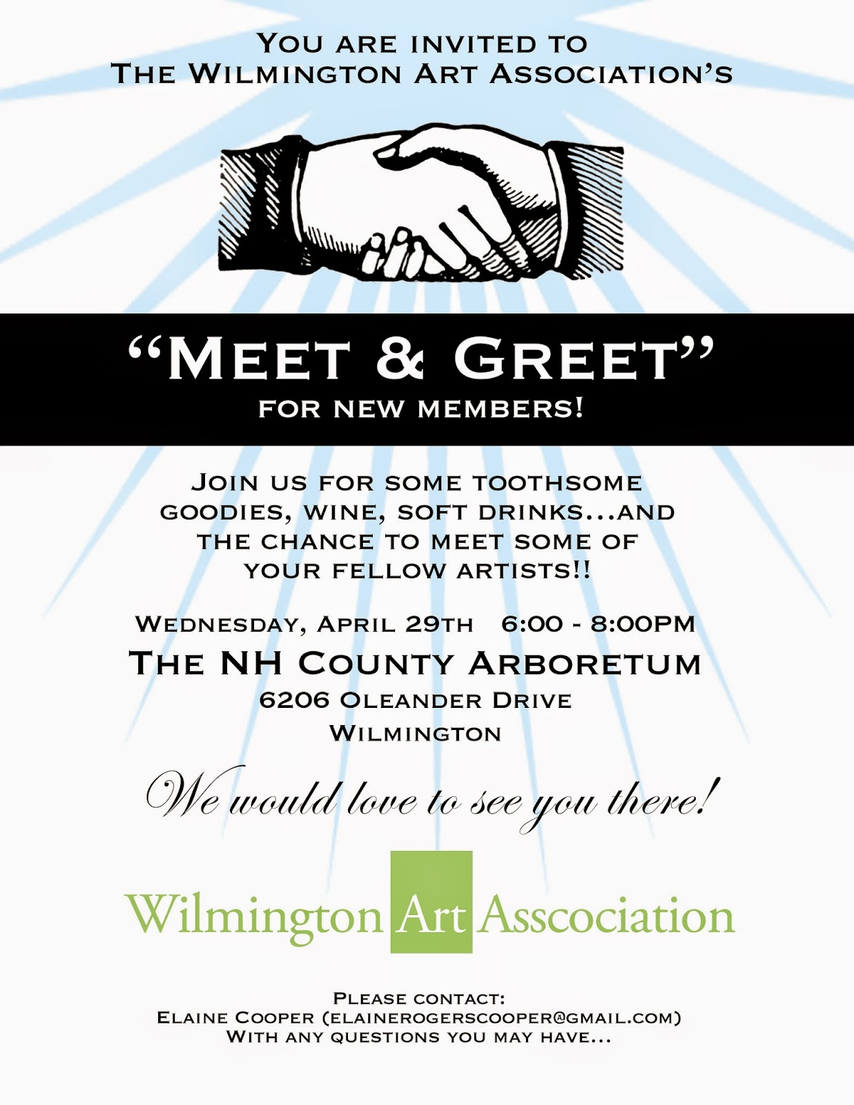 Wilmington art association eblast meet and greet invitation meet and greet invitation m4hsunfo