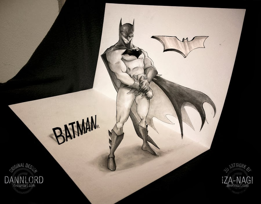 04-Batman-Izanagi-Aadi-aka-Iza-nagi-3D Pencil Drawings-www-designstack-co