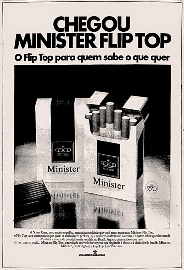 minister. propaganda anos 70; história decada de 70; reclame anos 70; propaganda cigarros anos 70; Brazil in the 70s; Oswaldo Hernandez;
