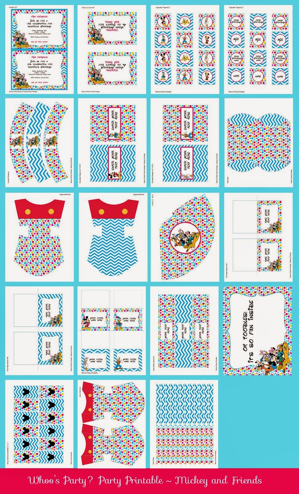 Mickey & Friends Party Printable