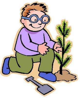 Dibujo alusivo a la Semana Forestal Nacional (La vida de un árbol está en nuestras manos)