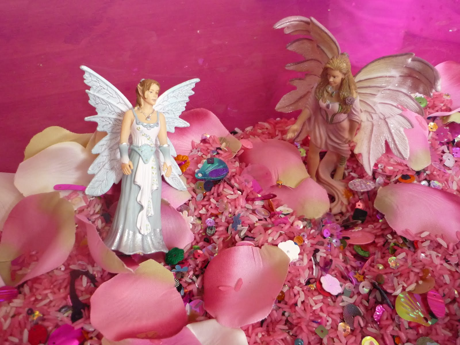 flowers and fairies sensory tub the imagination tree
