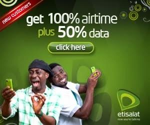 Etisalat:Get 100% airtime