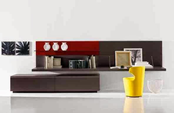 modern italian furniture design ideas for storage space in living room