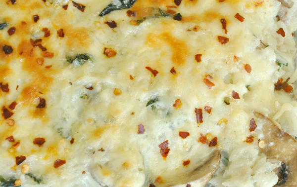 Cheesy Kale and Rice Casserole