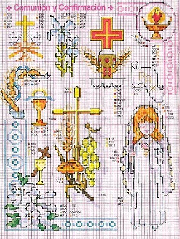 Imagenes de patrones de punto de cruz para primera comunión - Imagui
