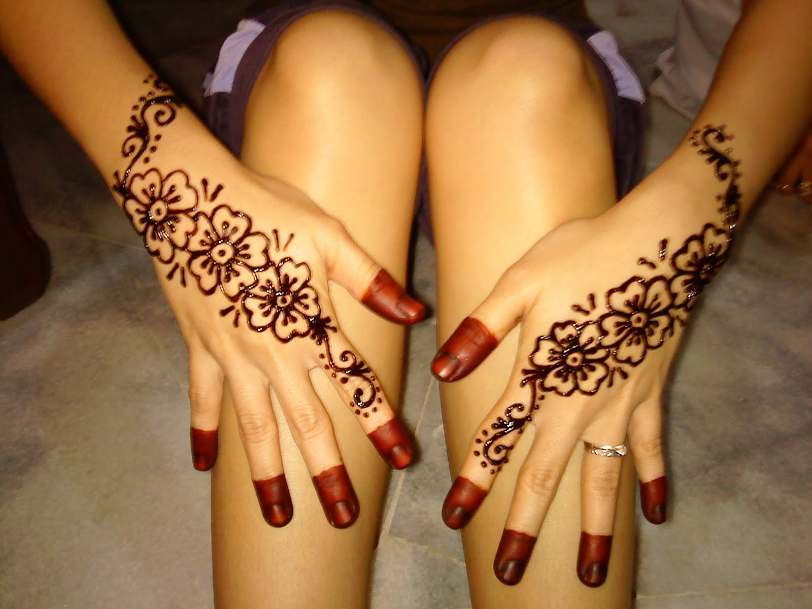 Mehndi Design Kaki : Henna simple di kaki makedes