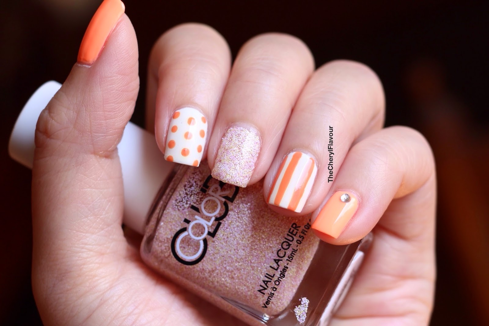 Orange themed nails